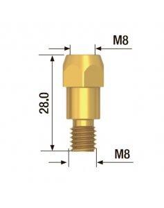 Адаптер контактного наконечника M8x28 мм (5 шт) FUBAG FB.TA.M8.28
