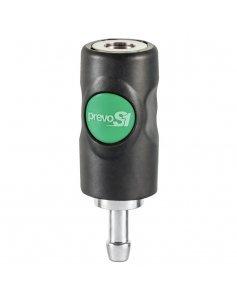 Безопасный разъем с кнопкой и ёлочкой на 10 мм PREVOST ESI 071810